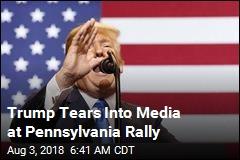 At Rally, Trump Slams 'Fake, Disgusting Media'