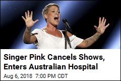 Singer Pink Cancels Shows, Enters Australian Hospital