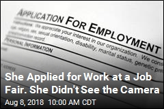 She Snuck to Job Fair on Break, Turned Up on the News