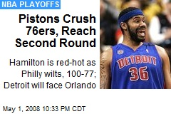 Pistons Crush 76ers, Reach Second Round