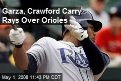 Garza, Crawford Carry Rays Over Orioles