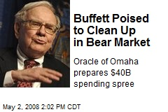 Buffett Poised to Clean Up in Bear Market