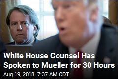 White House Counsel Has Spoken to Mueller for 30 Hours