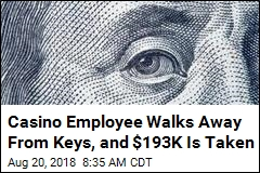 Casino Employee Walks Away From Keys, and $193K Is Taken