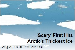 Arctic's Oldest, Thickest Ice in Pieces