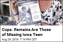Cops: Remains Are Those of Missing Iowa Teen