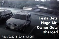 Tesla Gets Huge Air, Owner Gets Charged