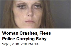 Woman With Baby Attempts Carjacking During Police Chase