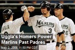 Uggla's Homers Power Marlins Past Padres