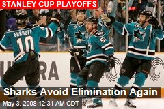 Sharks Avoid Elimination Again