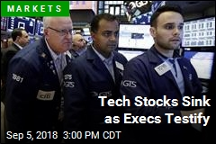 Tech Stocks Sink as Execs Testify