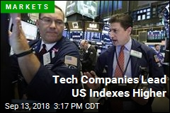 Tech Companies Lead US Indexes Higher