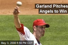Garland Pitches Angels to Win
