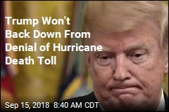 Trump Doubles Down on Puerto Rico Death Toll Claims