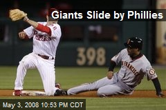 Giants Slide by Phillies
