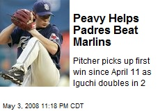 Peavy Helps Padres Beat Marlins