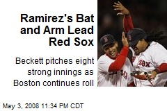 Ramirez's Bat and Arm Lead Red Sox