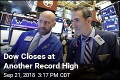 Dow Closes at Another Record High