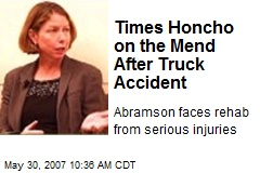Times Honcho on the Mend After Truck Accident