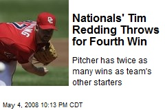 Nationals' Tim Redding Throws for Fourth Win
