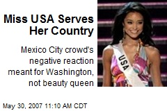 Miss USA Serves Her Country