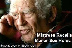 Mistress Recalls Mailer Sex Roles