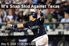 M's Snap Skid Against Texas