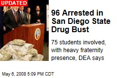 96 Arrested in San Diego State Drug Bust