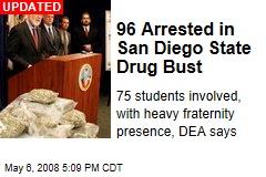 96 Arrested in San Diego State Drug Bust