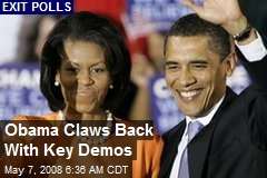 Obama Claws Back With Key Demos
