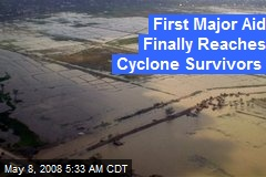 First Major Aid Finally Reaches Cyclone Survivors