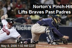 Norton's Pinch-Hit Lifts Braves Past Padres