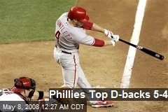 Phillies Top D-backs 5-4