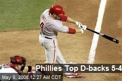 Phillies Top D-backs 5-4