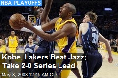 Kobe, Lakers Beat Jazz; Take 2-0 Series Lead