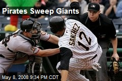 Pirates Sweep Giants