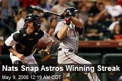 Nats Snap Astros Winning Streak