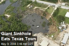 Giant Sinkhole Eats Texas Town