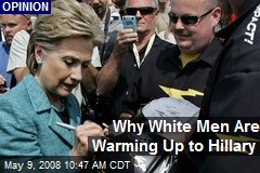 Why White Men Are Warming Up to Hillary