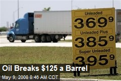 Oil Breaks $125 a Barrel