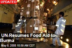 UN Resumes Food Aid to Burma