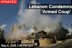 Lebanon Condemns 'Armed Coup'