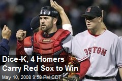 Dice-K, 4 Homers Carry Red Sox to Win