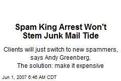Spam King Arrest Won't Stem Junk Mail Tide