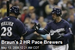 Braun's 2 HR Pace Brewers