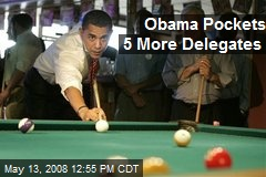 Obama Pockets 5 More Delegates