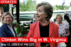 Clinton Wins Big in W. Virginia