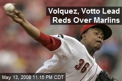 Volquez, Votto Lead Reds Over Marlins