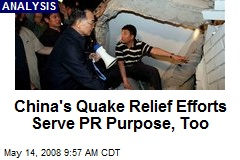 China's Quake Relief Efforts Serve PR Purpose, Too