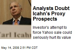 Analysts Doubt Icahn's Proxy Prospects